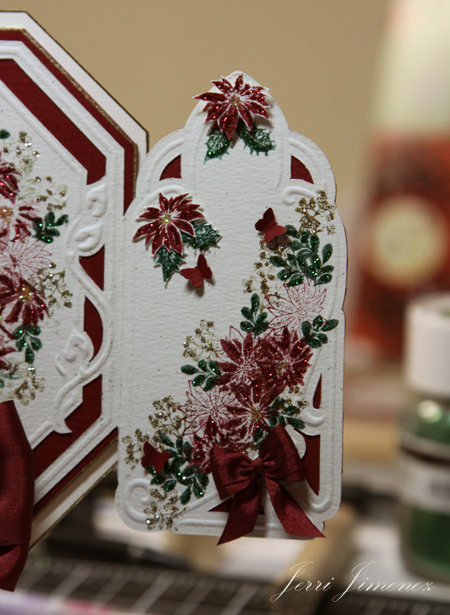 A touch of grace christmas poinsettia table decor