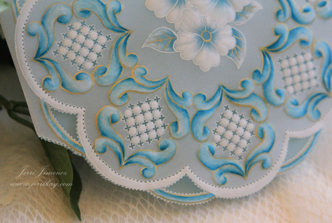 A Touch Of Grace Turquoise Parchment Card For A Friend
